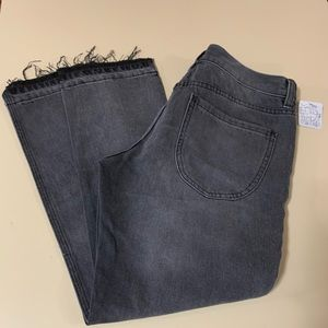 Free People faded black jeans